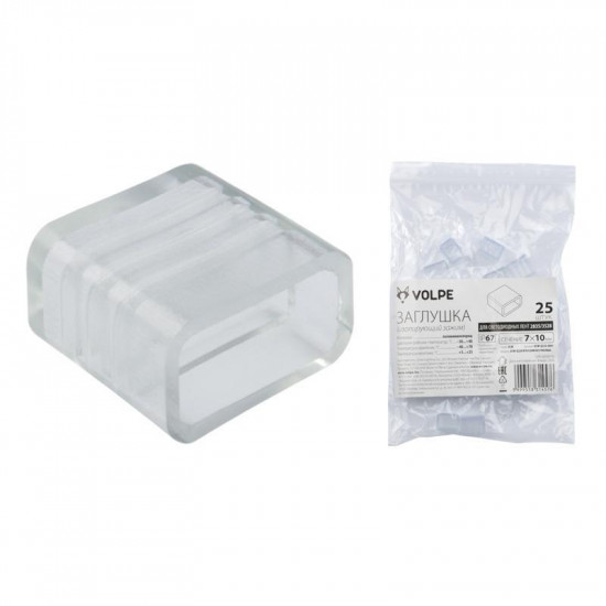 Заглушка (10973) Volpe UCW-Q220 K10 Clear 025 Polybag